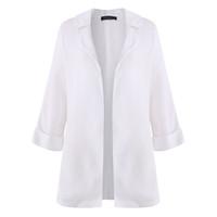 Wholesale Girls Batwing Tops - 2018 Spring Summer Girl Chiffon Kimono Cardigan Casual 3 4 Batwing Sleeve Loose Women Blouses Shirts Women Tops Outerwears