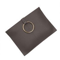 Wholesale Mini Coin Envelopes - Fashion Women Wallet Vintage Standard round ring Wallets Envelope Pack Cell Phone Coin Purse round ring Solid Zipper Clutch Bag