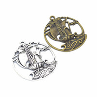 Wholesale hobbies boats resale online - 50PCS Sailing Boat Charms Boat Pendants Antique Silver bronze mm good for DIY craft jewelry making