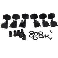pinos de sintonizador para guitarras elétricas venda por atacado-6 peças selado preto Tuning elétrico Pegs Tuner Machine Head 3R 3L / violão