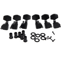 Wholesale black electric guitar tuning pegs resale online - 6 Pieces Black Sealed electric Tuning Pegs Tuner Machine Head R L acoustic guitar