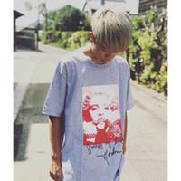 t-shirts colorés achat en gros de-Box Logo Madonna T-Shirt Coloré De Luxe Rue Skateboard Hommes Tee De Mode À Manches Courtes Casual De Plein Air Tour T-shirts HFTTTX001