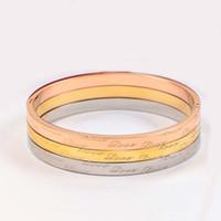 18kgp weißgold großhandel-316L Titan Stahl Eternity Love Forever Bracelets Weiß Perlmutterfalter Armreifen 18KGP Roségold Armband en acier inoxydable Never Fade