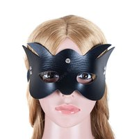 Wholesale adult party props resale online - Black Cat Blindfold Props Sexy Eye Mask Restraints Party Bondage Hood Sex Products for Women Adult Game Sex Toys For Couples