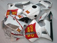 Wholesale Rr Motorcycles - Motorcycle Fairing kit for HONDA CBR600RR F5 03 04 05 06 CBR 600RR CBR 600 RR 2005 2006 ABS Red White Fairings set+gifts S3214
