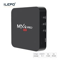 Wholesale best amlogic android tv box online - Cheapest Android TV BOX Amlogic S905W MXQ PRO With Original DDR Flash Smart TV Set Top Box support WiFi Best Internet Moive streaming