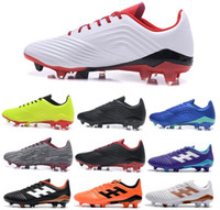 Wholesale low ankle shoes men resale online - New Mens Suprefly Soccer Cleats PP Predator FG Soccer Shoes Mens Low Ankle Outdoor Football Boots