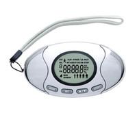 ingrosso contatori digitali-Mini LCD Digital Pedometer 2 in 1 Running Sports Analizzatore di grasso Design creativo Walking Distance Usa contatore calorie con catena Style 15xy ZZ