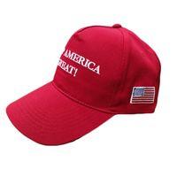 Wholesale snapback online - Donald John Trump Designer Hats Letter Keep America Great Again Snapback Sunscreen Cotton Cap For Men Women ds2 BB