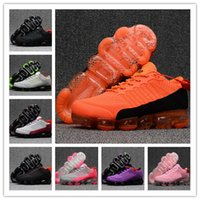 Wholesale lime green running shoes - Vapormax 2018 Moc Releasing Mens womens Laceless Multicolor Triple Black Running Shoes Sneakers For Womens mens Racer Vapor Shoes size 36-46