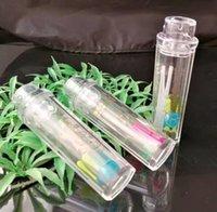 mini tubo de água acrílico venda por atacado-Lidar com acrílico capô de água de vidro Bongos de vidro acessórios, cachimbos coloridos mini multi-cores mão tubos melhor colher de vidro tubo 1 Transa