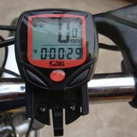 bisiklet bilgisayarı toptan satış-Bisiklet Kronometre SD548B Su Geçirmez 14 Fonksiyonları LCD Dijital Bisiklet Bilgisayar Kilometre Kilometre Sayacı