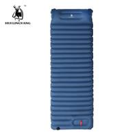 tapis de couchage camping achat en gros de-Tapis de camping gonflable en plein air Tapis de couchage Air Remplissage rapide Tapis de camping étanche à l'air avec oreiller