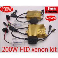 kits de conversão h4 escondidos venda por atacado-NOVO kit de xenon 200 W HID Farol Kit de conversão de Lâmpadas Lâmpadas Lâmpadas Branco H1 H4 H7 H11 6000 K