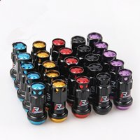 Wholesale New R40 Style mm Wheel Nuts Steel M12x1 Racing Lug Nuts lock racing lug nuts set security key