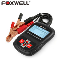 Wholesale 12v Battery Analyzer Tester - Wholesale-FOXWELL BT100 PRO 12V Car Battery Tester For Flooded AGM GEL Cell 100 - 1100 CCA 30 to 110 AH 12 V Volt Automotive Analyzer Tool