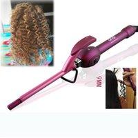 cachos de cabelo de 9mm venda por atacado-9mm modelador de cabelo de ferro de ondulação de cabelo profissional curles ferros curling varinha rolo rulos krultang magia cuidados beleza styling ferramentas
