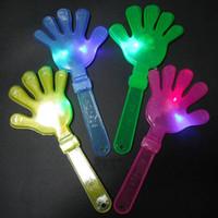 applaudissements en plastique achat en gros de-Vente en gros 28cm LED appliques de concert clapper de main luminescentes en plastique flash clap main mettre en œuvre fête de Noël W8070