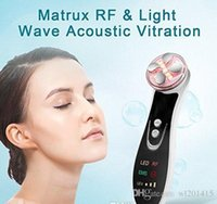 face massager for wrinkles NZ - UP004 Rechargeable 5 color led Light RF Radio Frequency Face Massager Skin Care Tool for Anti Aging Facial Lifting Wrinkle Removal home use