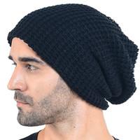 Wholesale oversized beanie cap resale online - HISSHE Autumn Winter Mens Slouchy Long Oversized Beanie Knit Cap Casual Skullies Beanie Caps Warm Ski Hat For Unisex D18110601