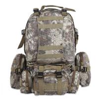 sırt çantası askeri molle taktik toptan satış-50L Açık Sırt Çantası Askeri Molle Taktik Çanta Sırt Çantası Sırt Çantaları Yürüyüş Kamp Kamuflaj Suya Dayanıklı Spor Çantaları