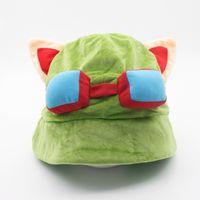 566895b56b7 Wholesale legends hats online - Hot game League of Legends cosplay cap Hat  Teemo hat Plush