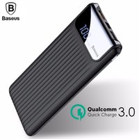 Wholesale power bank dual lcd for sale - Group buy Baseus mAh LCD Quick Charge Dual USB Power Bank For iPhone X Samsung S9 S8 Xiaomi Powerbank Battery Charger QC3