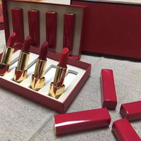 Wholesale High Press - factory dericet top quality c+++ 4 colors rouge allure matte lipstick Red gift box highest quality Press lipstick free shipping