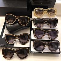 marken-sonnenbrille china großhandel-China Mode Luxusmarke Strand Sonnenbrille Vintage Frauen Marke Sonnenbrille Designer Full Frame Marke Logo Frauen Top Qualität mit Box