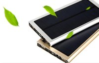 cargador del banco del poder del iphone 4s al por mayor-Smart Solar Power Bank para tableta de teléfonos celulares