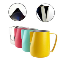 Wholesale pitcher filters for sale - Group buy Milk Jug L Stainless Steel Frothing Pitcher Pull Flower Cup Coffee Milk Frother Latte Art Milk Foam Tool Coffeware