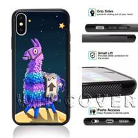 Wholesale iphone 5c black phone case online - Fortnite Battle Royale2 The Loot Llama Phone Case For iPhone Samsung iX XS XR MAX i8Plus i7 i6s SE T6 I4 I5 C SE S8 S9 Note Note Cover