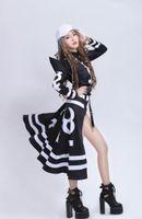 Wholesale women led costumes online - Bar Ds Costumes Hiphop Hip hop Singer Alphanumeric Printing Atmospheric Jazz Nightclub Performance Clothing Lead Dancer Clothing