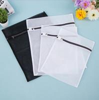 sutyen örgülü çamaşır poşeti toptan satış-Çamaşır torbası 4'lü Paket (2 Orta Boy 2 Büyük) Hassaslar Hasır Çamaşır Torbası Sutyen İç Çamaşır Kurutma Torbaları (Siyah Beyaz) çamaşır makinesi çantası KKA3877
