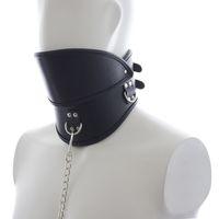 Wholesale dog collars bondage online - BDSM PU Leather Dog Collar Slave Bondage Belt Hood Mask Fetish Erotic Sex Products Adult Toys For Women And Men HS35