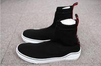 Wholesale 2018 High Quality Original Mens Designer SneakersWomen Men Sock Running Shoes Black Sneakers Top Boots Casual shoe mens
