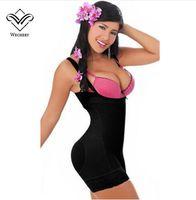 Wholesale Slimming Bodysuits For Women - Wechery Body Shapers Bodysuits for Women Waist Trainer Sexy Soft Corset Slimming Underwear Waist cinta modeladora Sheath Fajas