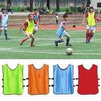 bib pinnies toptan satış-Futbol eğitim yelek pinnies futbol grup üniforma karşı unfilling olmayan karşı takım oyunu karşı bib futbol sporları egzersiz jersey