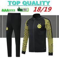 Wholesale sports clothes men online - 2018 Borussia Dortmund soccer jacket tracksuit Survetement REUS PULISIC M GOTZE Dott clothes sports wear football jacket kits
