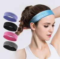 Wholesale stretch headbands - Unisex Turban Sports Yoga Sweatband Gym Stretch Headband Elastic Non slip Elastic Hair Band Headscarf Head Band Hair Accessory EEA450