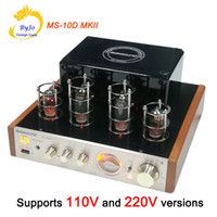 Wholesale Nobsound MS D MKII Tube Amplifier Hifi Stereo Audio Power Amplifier W Vaccum Tube AMP Support Bluetooth and USB V or V