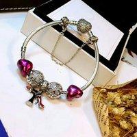 Wholesale panda bracelet resale online - Brand Women Charm beads Bracelet pulseiras Jewelry to Cm Bracelet Sterling Silver Panda European Charm Beads Fits Charm bracelets