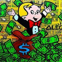 Wholesale Alec monopoly graffiti Art Richie Rich Portrait MODERN ABSTRACT LARGE ART OIL PAINTING WALL DECOR CANVAS FRAMED STRETCH FRAMED