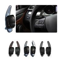 vw passat руль оптовых-1Pair Руль Shift Dial DSG Paddle Extension для Volkswagen VW Golf 6 Jetta GTI MK6 R R20 Passat CC R36 EOS SCIROCCO