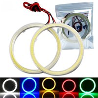 Wholesale 1Pair COB mm mm mm V DC With Cover Halo Rings mm mm mm mm Angel Angelic Eyes Lampshade Headlights