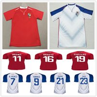 Wholesale red nurse - 2018 Panama Football Jersey NURSE GODOY 9 TORRES OVALLE QUINTERO B.PEREZ 11 BROWN ARROYO CHEN Custom Home Away Red White Soccer Shirt
