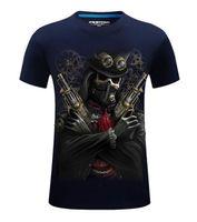 büyük boy erkek gömlekleri toptan satış-3D T Gömlek Sıcak Yeni 3d Baskılı Serin korsan yeezus T Gömlek Mens-6XL KANYE WEST Pamuk T-Shirt uzun boylu ve büyük erkekler için Ücretsiz kargo