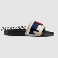 Wholesale womens slide sandals - 2018 mens and womens fashion 10MM Satin slide FLATS slide sandals with Web bow summer outdoor beach flat flip flops adults slippers
