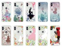 Wholesale alice case for sale - For Apple iPhone Xs Max Xr plus Back Cover Transparent Soft TPU clear patterns Cartoon Alice Mermaid cell phone cases