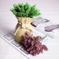 ingrosso simulazione erba artificiale-1 Bouquet 6 pezzi Ananas Erba Home Decor Alta Simulazione Verde foglia erba Pianta Decorazione della casa Fiore pianta artificiale
